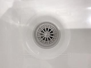 洗面台の排水口の写真・画像素材[4122584]
