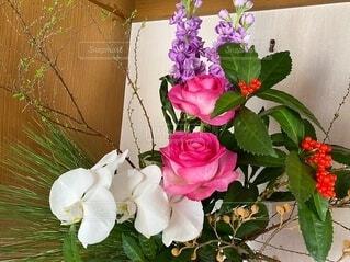 お正月の生け花の写真・画像素材[4130818]