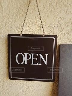 オープンの看板の写真・画像素材[4163713]