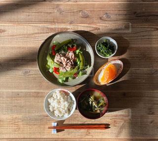 豚しゃぶサラダ定食の写真・画像素材[3049973]