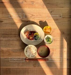 豚の角煮定食の写真・画像素材[4052165]