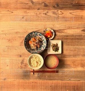 筑前煮定食の写真・画像素材[4278752]