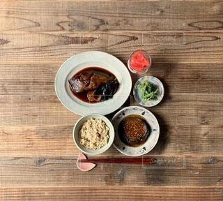 カレイの煮付け定食の写真・画像素材[4734404]