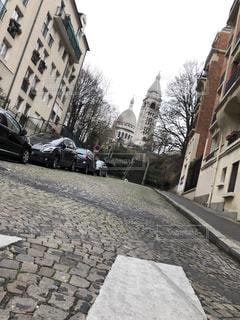 街路にある石造りの建物の写真・画像素材[2287617]