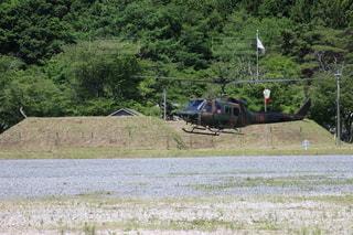 陸上自衛隊ヘリコプターの写真・画像素材[3336993]