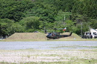 陸上自衛隊ヘリコプターの写真・画像素材[3337001]
