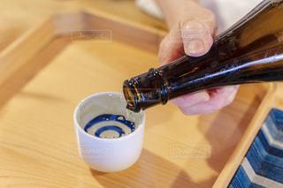 日本酒と御猪口の写真・画像素材[2290870]