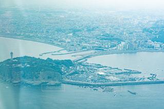 江ノ島の航空写真の写真・画像素材[2291055]