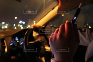 夜のドライブの写真・画像素材[2293754]