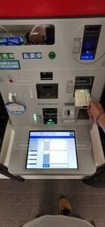 競馬場の馬券販売機とマークシートの写真・画像素材[3715626]