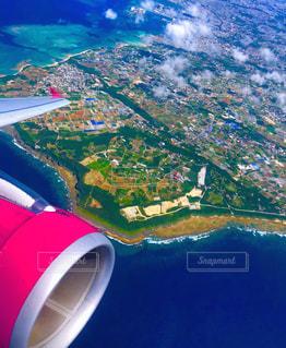 飛行機からの沖縄の写真・画像素材[2296788]