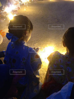夏祭り花火の写真・画像素材[2309184]