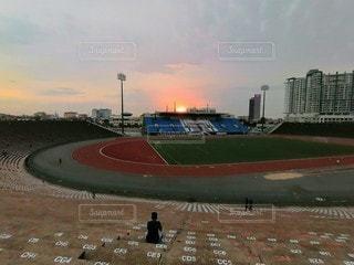 プノンペンのオリンピックスタジアムの写真・画像素材[2299539]