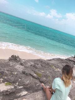 海を見る人の写真・画像素材[2306023]