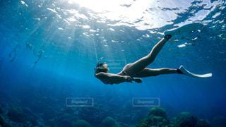 泳いでいる人の写真・画像素材[2306024]