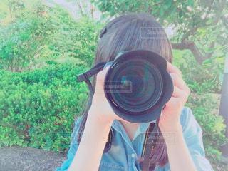 カメラ女子の写真・画像素材[136635]