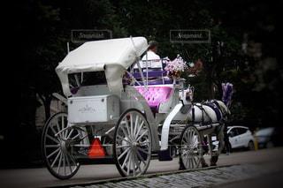白い馬車の写真・画像素材[2358595]
