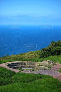 海と砲台跡の写真・画像素材[2443615]