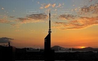福岡タワーのシルエットの写真・画像素材[4852968]