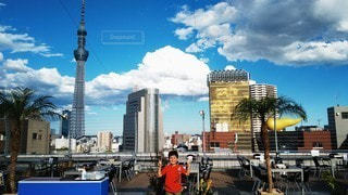 夏の浅草駅ビルの写真・画像素材[2331916]