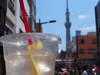 東京スカイツリーを目指しての写真・画像素材[2356556]