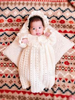 手編みのベビードレスの写真・画像素材[2329466]