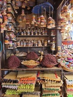モロッコの雑貨屋さんの写真・画像素材[2892108]