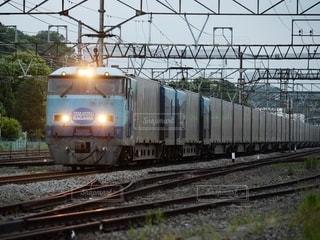 朝の貨物列車の写真・画像素材[2419948]