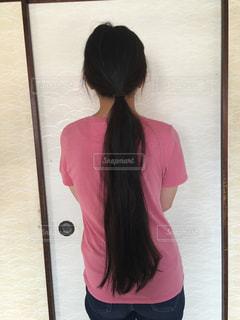 黒髪ロングヘア(結)の写真・画像素材[2333880]