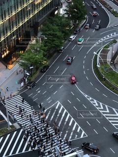 街の通りの眺めの写真・画像素材[1203308]