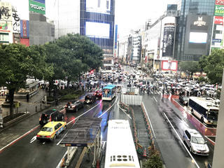 雨の渋谷の写真・画像素材[2338812]