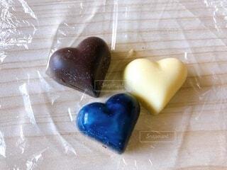 三色チョコレートの写真・画像素材[4142254]