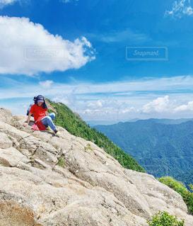 石鎚山登頂の写真・画像素材[2337158]
