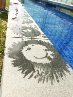 水でお絵描きの写真・画像素材[2406891]