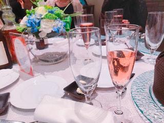 結婚披露宴のウェルカムシャンパンの写真・画像素材[2411458]