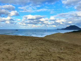 鳥取砂丘の晴れの写真・画像素材[2437161]