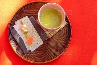 もみじ団子と抹茶の写真・画像素材[3907092]