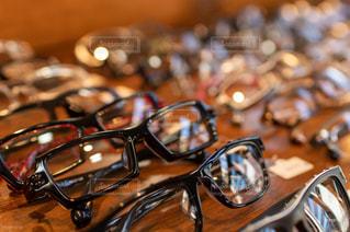 たくさん並ぶメガネたちの写真・画像素材[2860395]