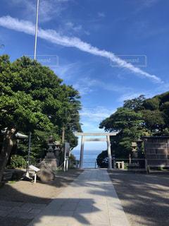 神社と空と海の写真・画像素材[2342099]
