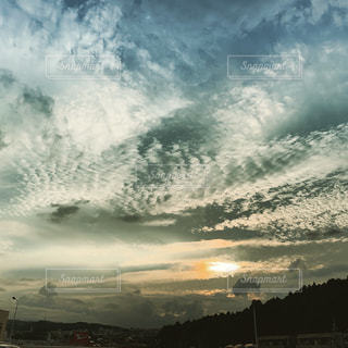 宮城県仙台市青葉区荒巻本沢の夕暮れ2019.7.1-3の写真・画像素材[2350030]