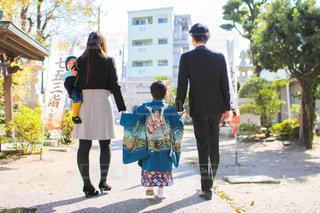 七五三 家族での写真・画像素材[2869182]