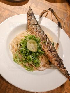 秋刀魚のパスタ♡の写真・画像素材[2650558]