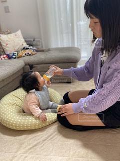 チーママ育児の写真・画像素材[3000993]