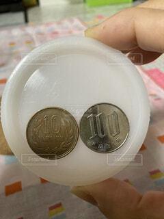 昭和64年と平成31年の硬貨の写真・画像素材[4740203]