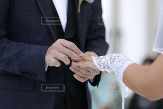 指輪の交換の写真・画像素材[2704607]
