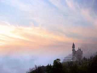 ドイツ城と夕暮れの写真・画像素材[2355383]
