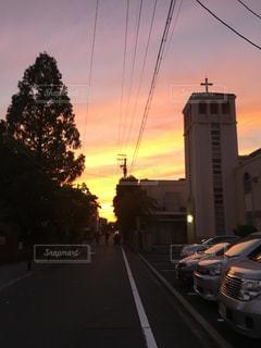 都市の夕日の写真・画像素材[2351747]