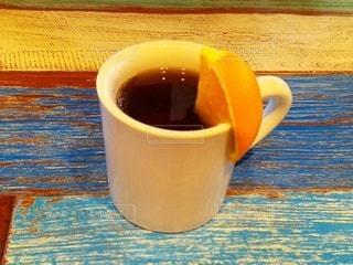 紅茶とオレンジのフルーツティーの写真・画像素材[2681598]