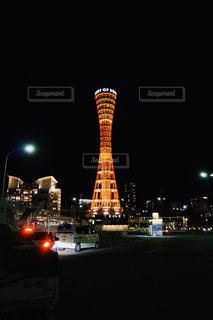 夜の神戸ポートタワーの写真・画像素材[2362225]