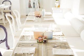 朝ごはんのテーブルの写真・画像素材[2596718]